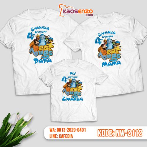 Baju Kaos Couple Keluarga Beat Bugs | Kaos Ultah Anak | Kaos Beat Bugs - NW 2112