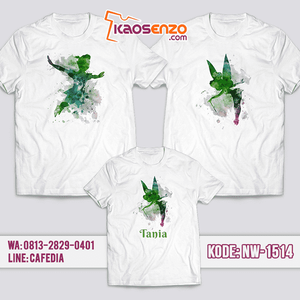 Baju Kaos Couple Keluarga Peterpan | Kaos Family Custom | Kaos Peterpan- NW 1514