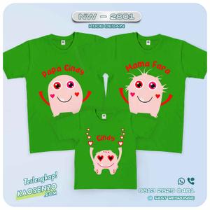 Kaos Couple Keluarga Monster Inc   Kaos Ulang Tahun Anak   Kaos Monster Inc - NW 2801
