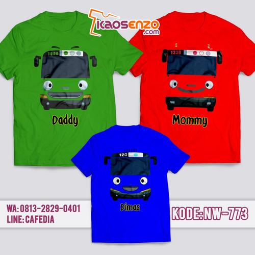 Baju Kaos Couple Keluarga | Kaos Family Custom Tayo - NW 773