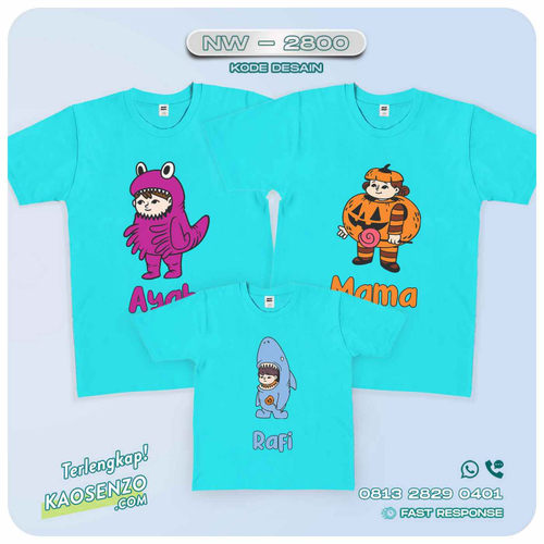 Kaos Couple Keluarga Monster Inc | Kaos Ulang Tahun Anak | Kaos Monster Inc - NW 2800