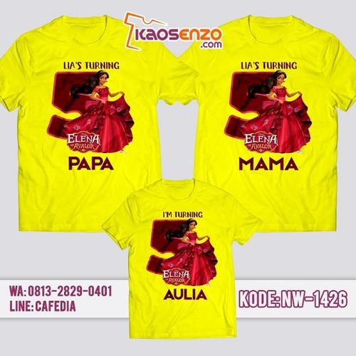 Kaos Couple Keluarga Princess Elena | Kaos Ulang Tahun Anak | Kaos Princess Elena - NW 1426