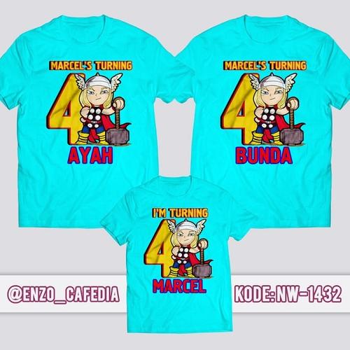 Kaos Couple Keluarga Thor   Kaos Ulang Tahun Anak   Kaos Thor - NW 1432