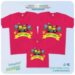 Baju Kaos Couple Keluarga Minion | Kaos Family Custom | Kaos Minion - NW 3009