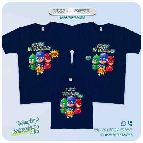 Kaos Couple Keluarga | Kaos Ulang Tahun Anak PJ Masks - NW 2570