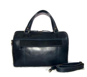 Tas Kulit Asli Wanita Handbag + Tali Selempang, Premium Leather HandBag - Sophia Blue Navy