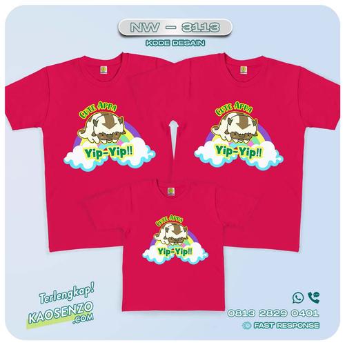 Baju Kaos Couple Keluarga Avatar | Kaos Family Custom | Kaos Avatar - NW 3113
