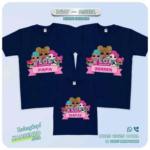 Baju Kaos Couple Keluarga LOL Doll | Kaos Family Custom | Kaos LOL Doll - NW 2581