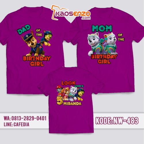 Kaos Couple Keluarga   Kaos Ulang Tahun Anak Paw Patrol - NW 483
