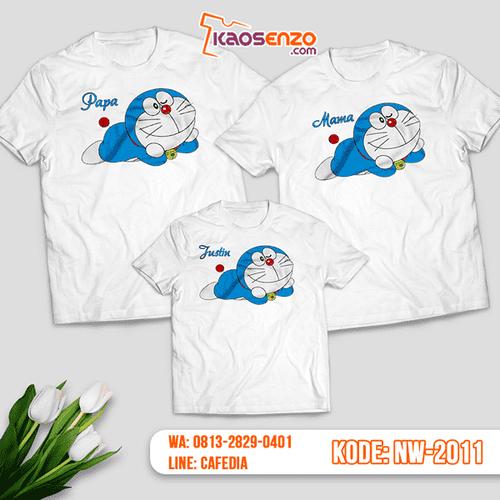 Baju Kaos Couple Keluarga Doraemon | Kaos Family Custom | Kaos Doraemon - NW 2011