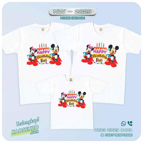 Baju Kaos Couple Keluarga Mickey Minnie Mouse   Kaos Ultah Anak   Kaos Mickey Minnie Mouse - NW 2829