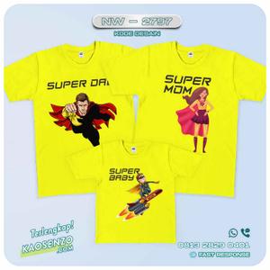 Baju Kaos Couple Keluarga superhero| Kaos Family Custom | Kaos Superhero - NW 2797