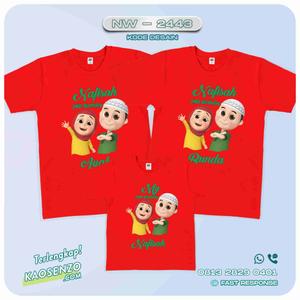 Baju Kaos Couple Keluarga Nussa & Rara | Kaos Ultah Anak | Kaos Nussa & Rara- NW 2443