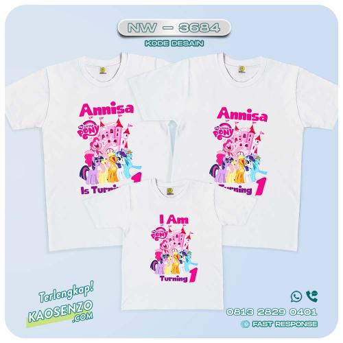 Baju Kaos Couple Keluarga Little Pony   Kaos Family Custom   Kaos Little Pony - NW 3684