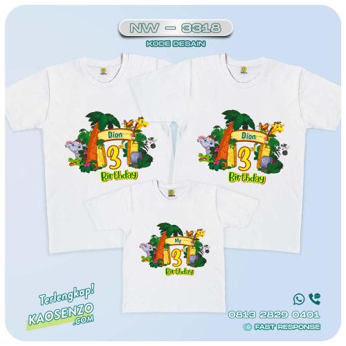 Baju Kaos Couple Keluarga Animal Zoo | Kaos Ultah Anak | Kaos Animal Zoo - NW 3318