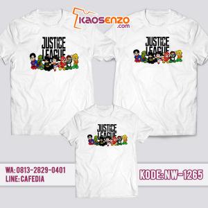 Baju Kaos Couple Keluarga Justice League   Kaos Family Custom   Kaos Justice League - NW 1265