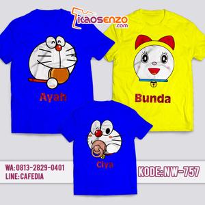 Baju Kaos Couple Keluarga | Kaos Family Custom | Kaos Doraemon - NW 757