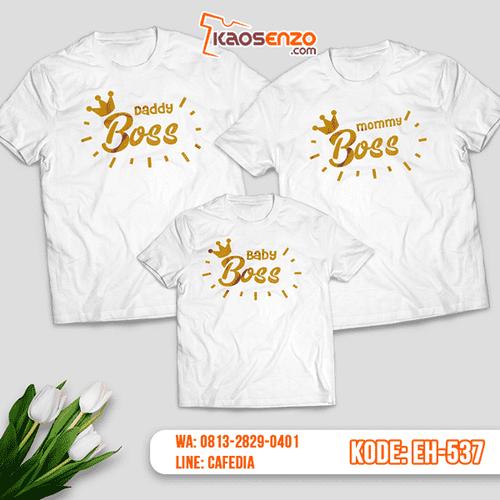 Baju Kaos Couple Keluarga   Kaos Family Custom Baby Boss - EH 537