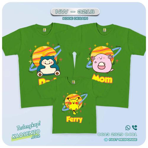 Baju Kaos Couple Keluarga Pokemon | Kaos Family Custom | Kaos Pokemon - NW 3218