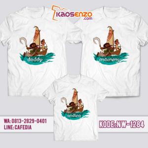 Baju Kaos Couple Keluarga Moana | Kaos Family Custom | Kaos Moana - NW 1284