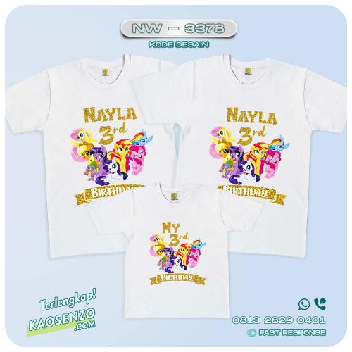 Baju Kaos Couple Keluarga Little Pony   Kaos Ulang Tahun Anak   Kaos Little Pony - NW 3378