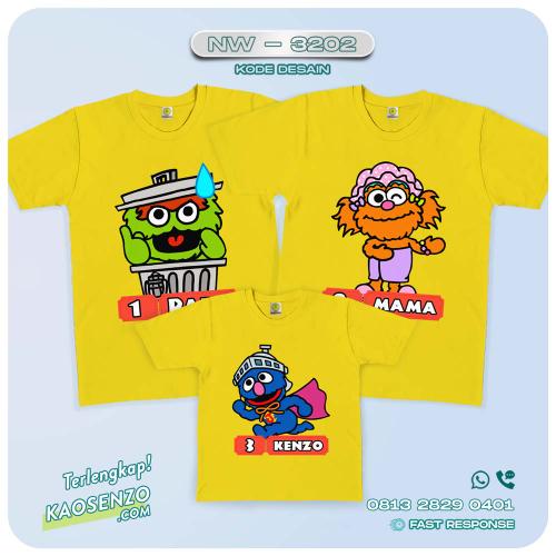 Kaos Couple Keluarga Elmo | Kaos Ulang Tahun Anak | Kaos Elmo - NW 3202