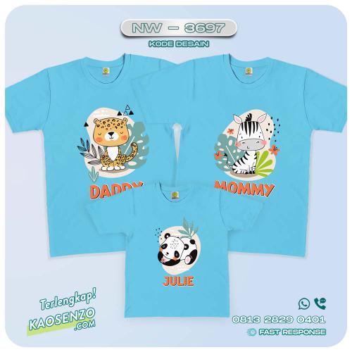 Baju Kaos Couple Keluarga Animal Zoo | Kaos Family Custom | Kaos Animal Zoo - NW 3697