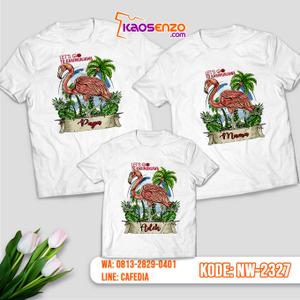 Baju Kaos Couple Keluarga Flamingo | Kaos Ultah Anak | Kaos Flamingo - NW 2327