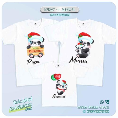Baju Kaos Couple Keluarga Natal | Kaos Family Custom | Kaos Natal - NW 2671