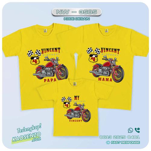 Baju Kaos Couple Keluarga Motor   Kaos Motor - NW 3585