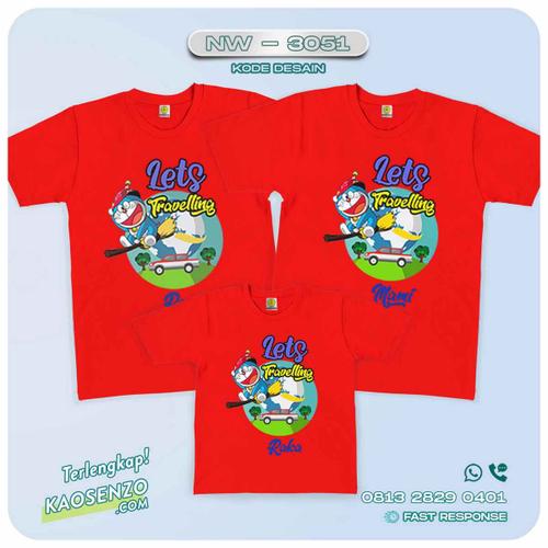 Baju Kaos Couple Keluarga Doraemon | Kaos Family Custom | Kaos Doraemon - NW 3051