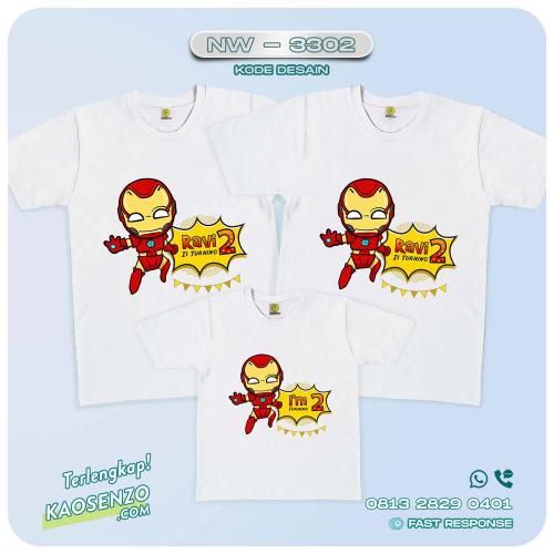 Baju Kaos Couple Keluarga | Kaos Family Custom | Kaos Iron Man - NW 3302