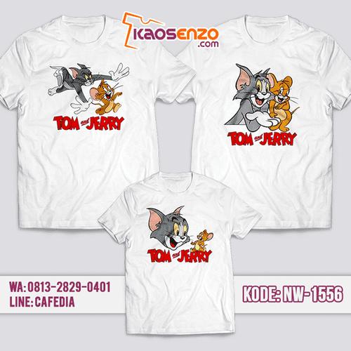 Baju Kaos Couple Keluarga Tom & Jerry | Kaos Family Custom | Kaos Tom & Jerry - NW 1556