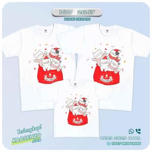 Baju Kaos Couple Keluarga Natal | Kaos Family Custom | Kaos Natal - NW 2647