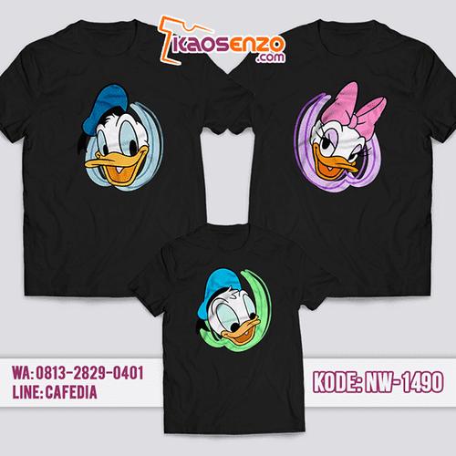 Baju Kaos Couple Keluarga Donald Duck | Kaos Family Custom | Kaos Donald duck- NW 1490