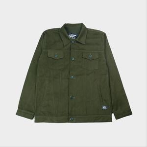 Alanzo Trucker Jacket - Green Army