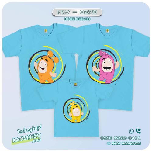 Baju Kaos Couple Keluarga Oddobods | Kaos Family Custom | Kaos Oddobods - NW 3273