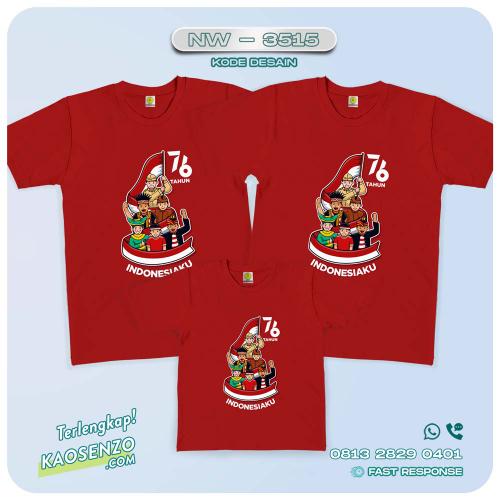 Baju Kaos Couple Keluarga Kemerdekaan | Kaos Family Custom | Kaos Kemerdekaan - NW 3515