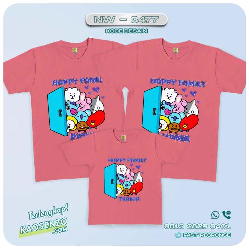 Kaos Couple Keluarga BT21   Kaos Ulang Tahun Anak   Kaos BT21 - NW 3477
