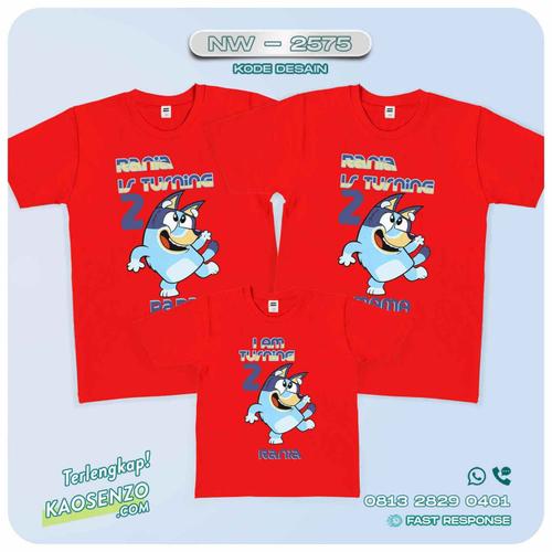 Baju Kaos Couple Keluarga Bluey | Kaos Family Custom | Kaos Bluey - NW 2575