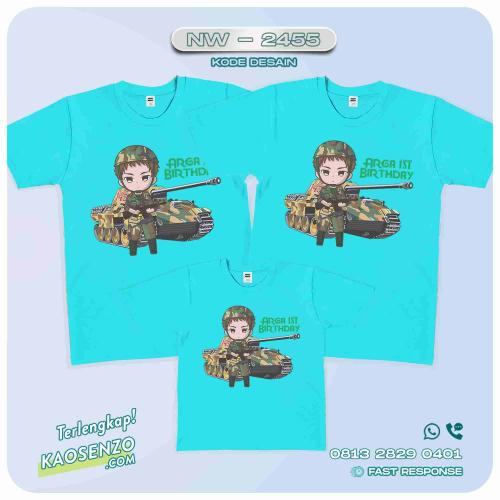 Baju Kaos Couple Keluarga Army | Kaos Ultah Anak | Army - NW 2455