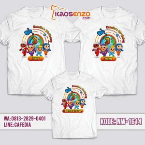 Baju Kaos Couple Keluarga Go Jetters | Kaos Ultah Anak | Kaos Go Jetters - NW 1614