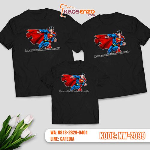 Baju Kaos Couple Keluarga Superman | Kaos Family Custom | Kaos Superman - NW 2099