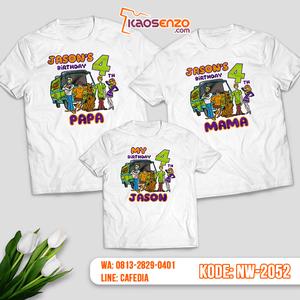 Baju Kaos Couple Keluarga Scooby Doo | Kaos Ultah Anak | Kaos Scooby Doo - NW 2052