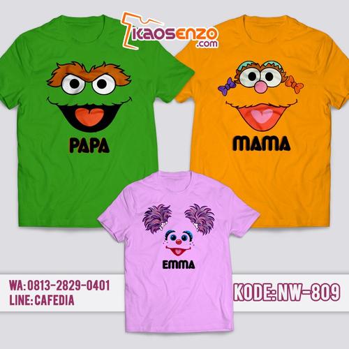 Baju Kaos Couple Keluarga | Kaos Family Custom | Kaos Elmo - NW 809