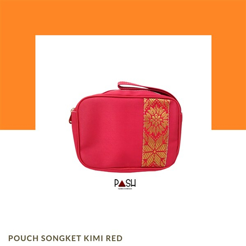 Pouch Songket Kimi Red