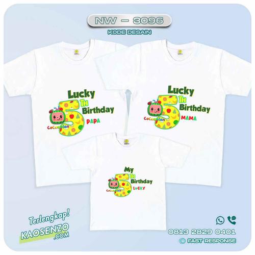 Baju Kaos Couple Keluarga Cocomelon | Kaos Ultah Anak | Kaos Cocomelon - NW 3096