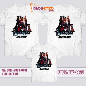 Baju Kaos Couple Keluarga Avengers | Kaos Family Custom | Kaos Avengers - NW 1433
