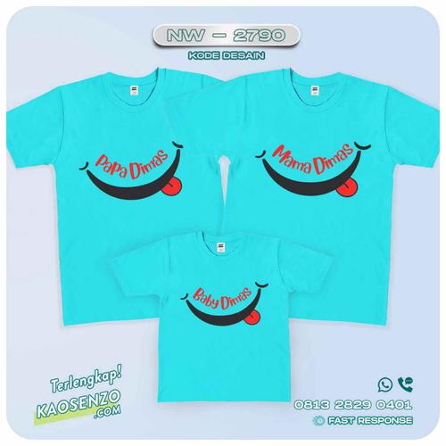 Baju Kaos Couple Keluarga Happy Family   Kaos Happy Family - NW 2790