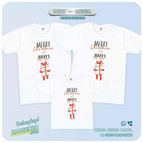 Baju Kaos Couple Keluarga Natal | Kaos Family Custom | Kaos Natal - NW 2681